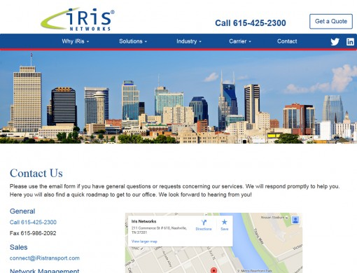 iRis Networks Website